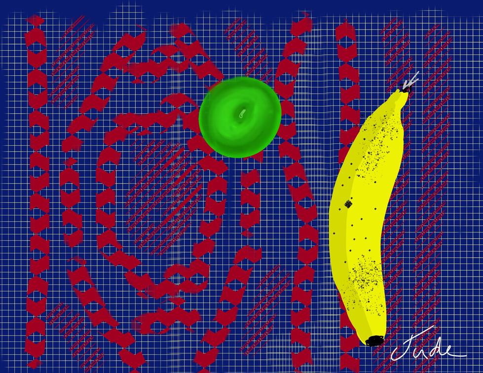 Fruit on a Persian Rug - Stylus on iPad Procreate