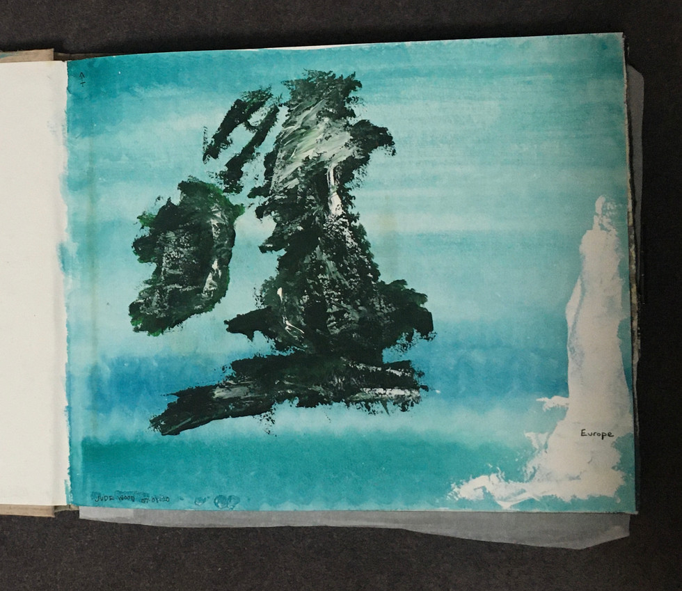 'Painting the UK' - Gauache on A3 Cotton
