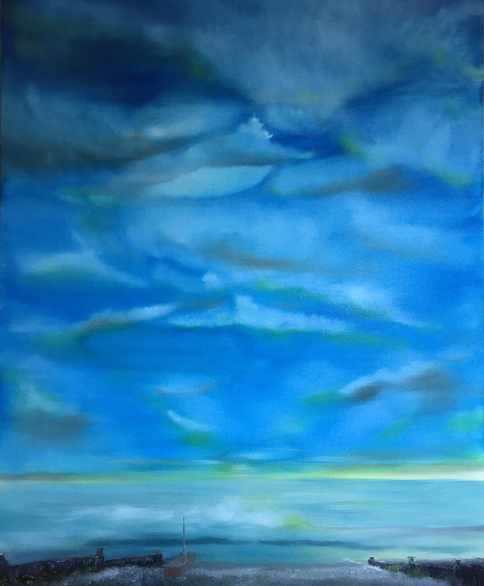 On Mum's Birthday - Oil on Canvas 92x141cm