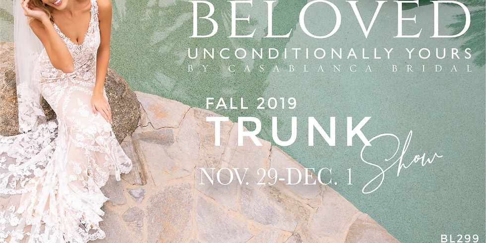 Exclusive Beloved Bridal Black Friday Weekend Trunk Show and Sale!