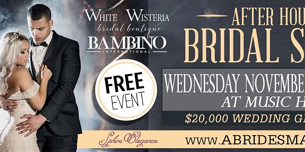 """A Bride's Mafia's """"Afterhours Bridal Show"""" at Music Hall"""
