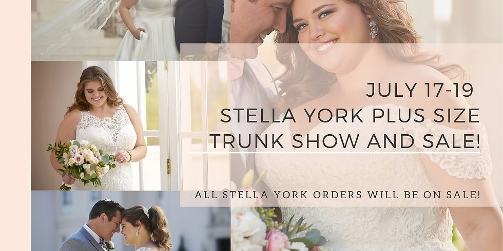 Stella York Every Body Every Bride Trunk Show and Sale!
