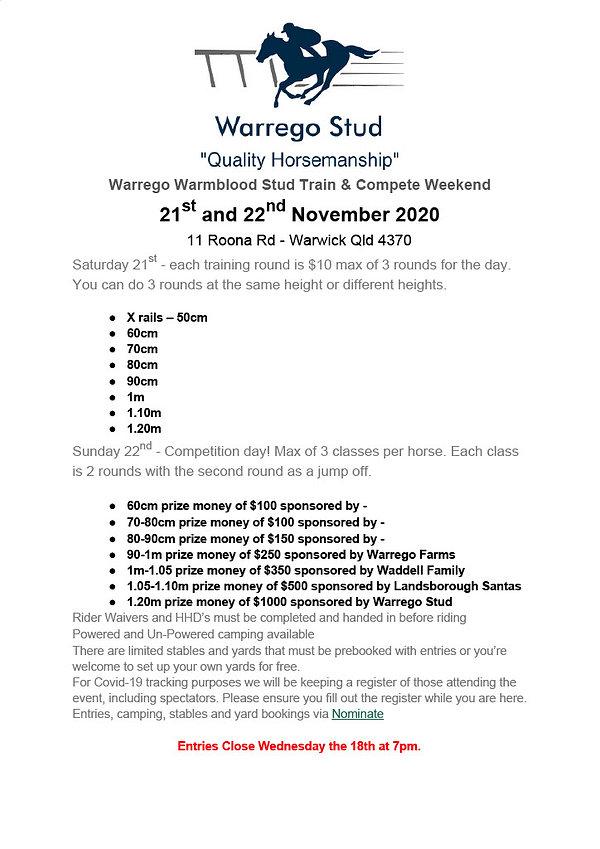 Warrego Warmblood Stud Train & Compete W