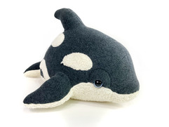 Charcoal Baby Orca Plush
