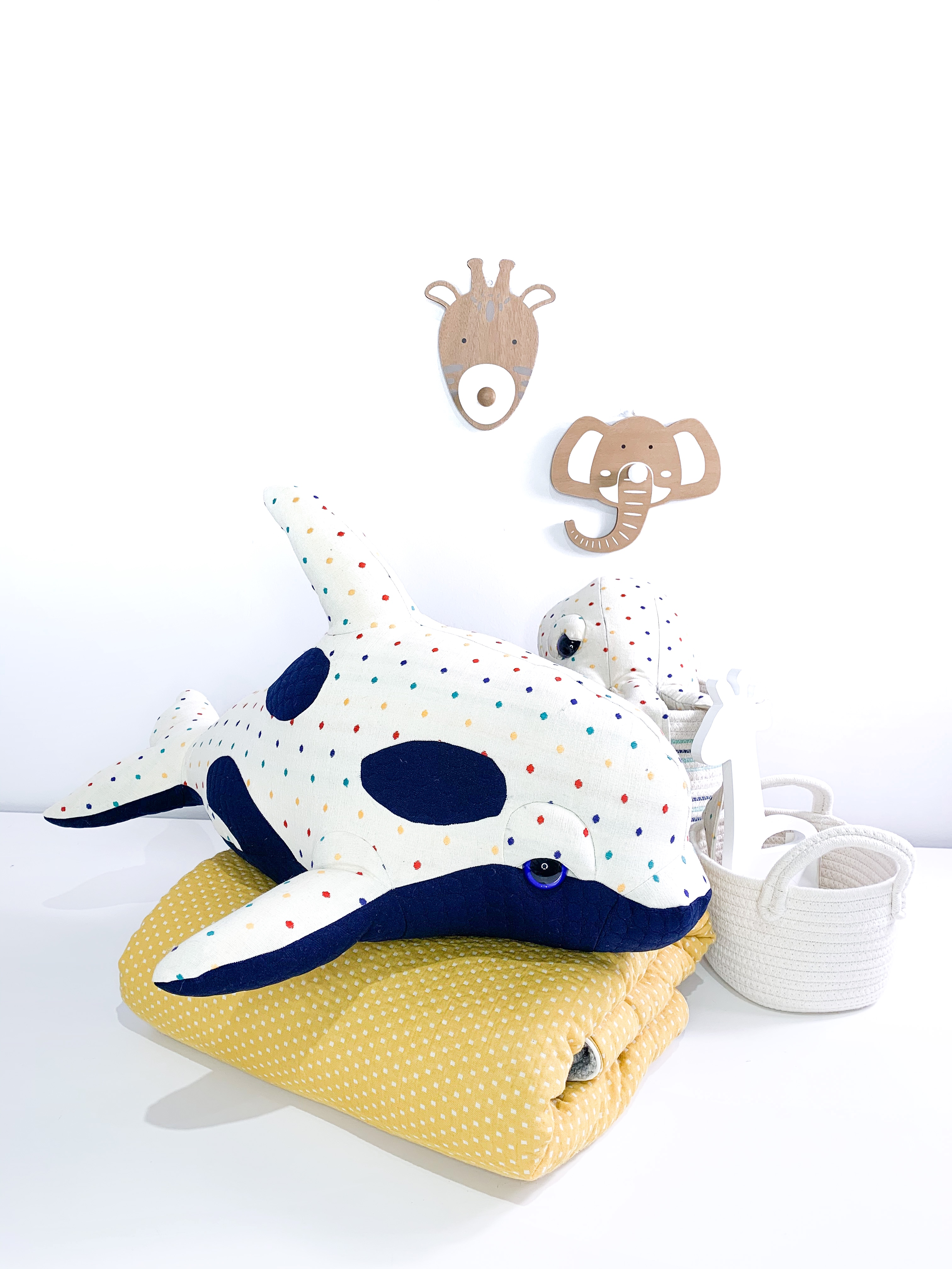 Polka Baby Orca Plush - Handmade Killer