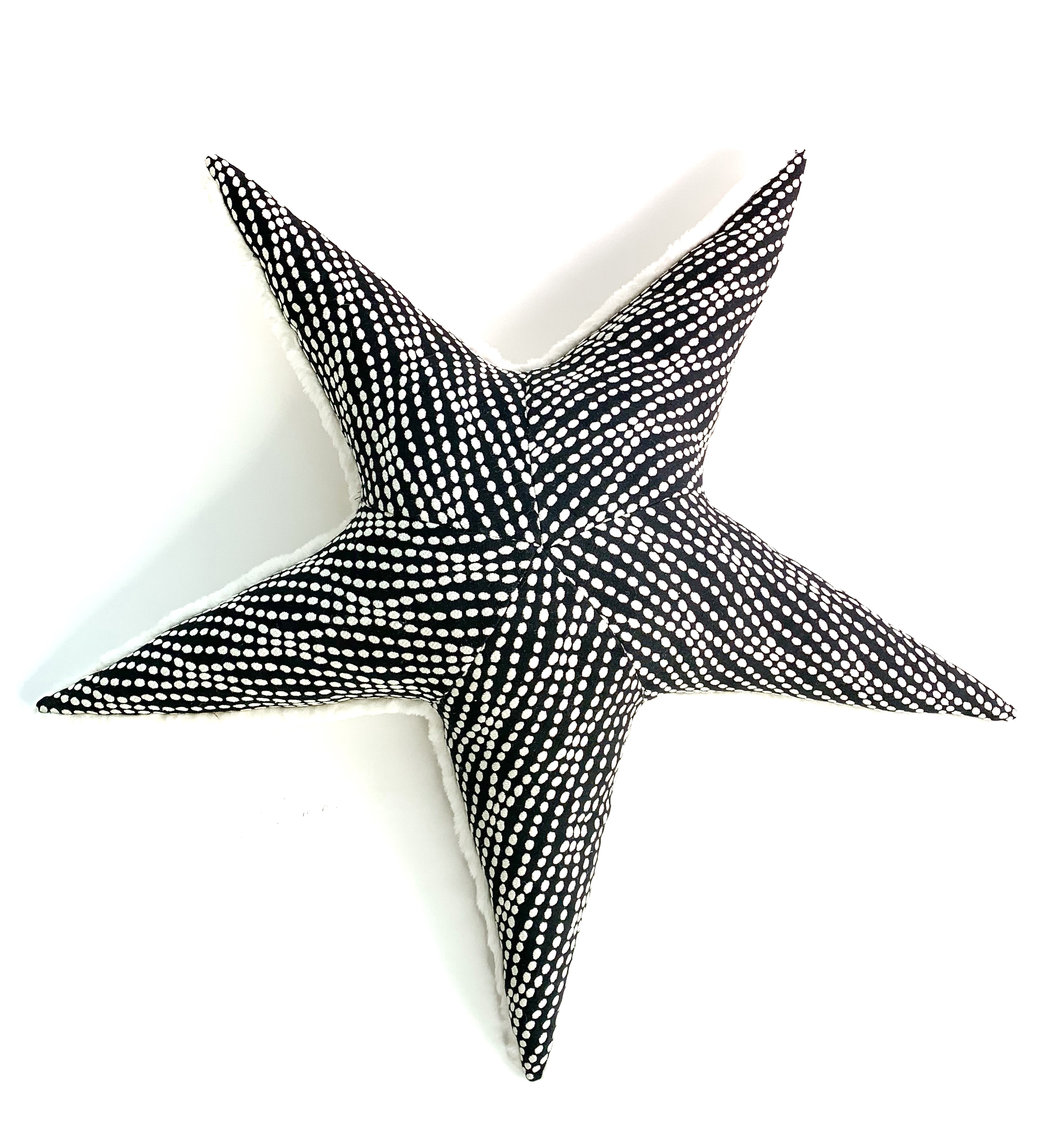Black Texture Starfish Pillow