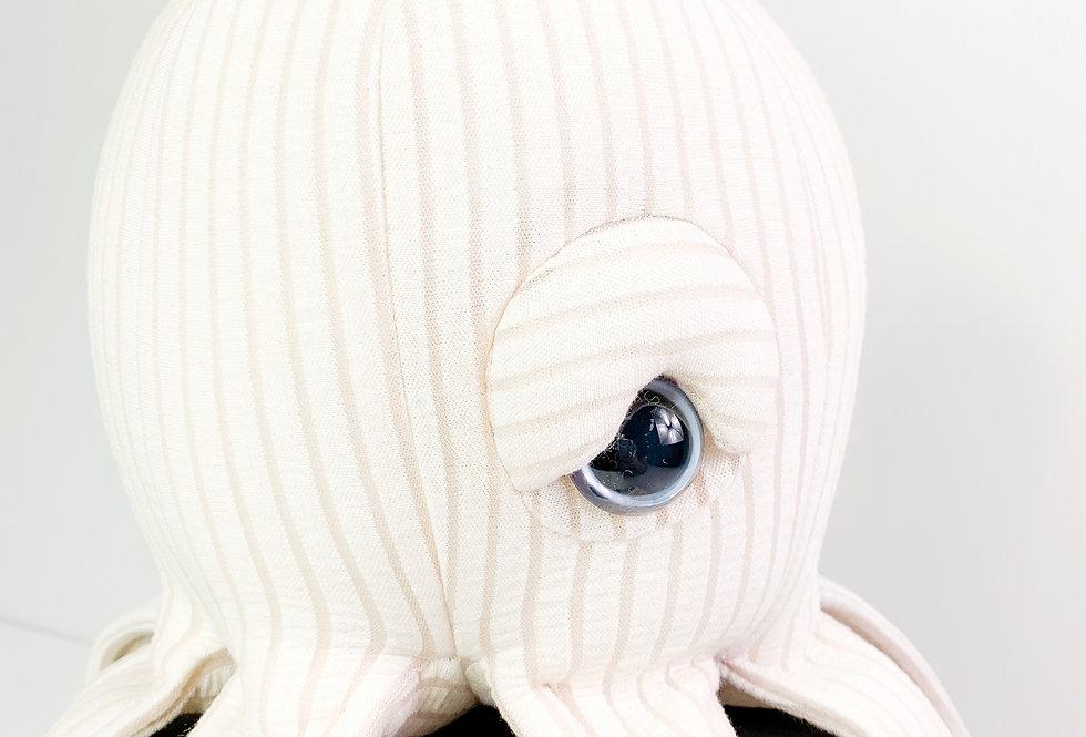 Baby Octopus Plush -  Handmade Stuffed Toy  (Light Pink)