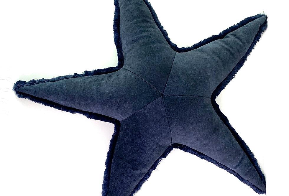 Navy Starfish Pillow -Handmade Sea Star
