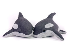 Handmade Killer Whale plush