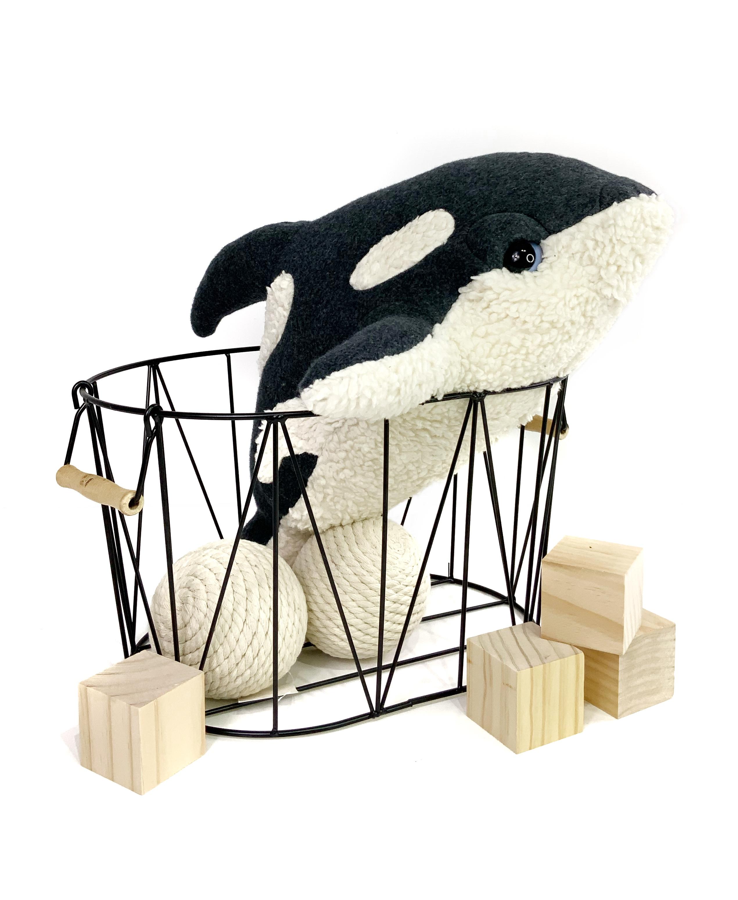 Little Killer Whale Plush - Handmade Organic Baby Orca Plushie