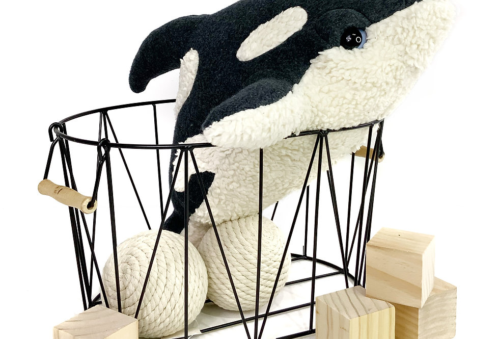 Little Killer Whale Plush - Charcoal Baby Orca