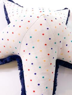 Polka Starfish Plush - Dots Colors Children Pillow