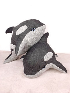Gray Baby Orca Plush
