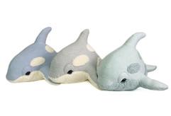 Organic Killer Whale Plush - Handmade Baby Orca Toy