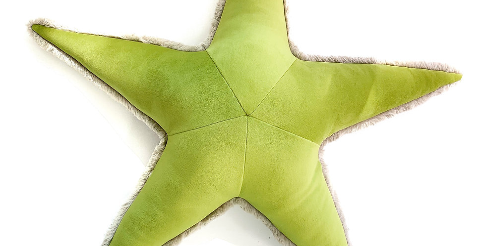 Spring Starfish Pillow - Handmade Sea Star