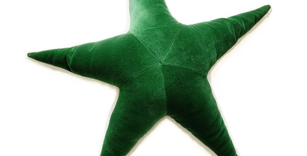 Emerald Green Starfish Plush Pillow
