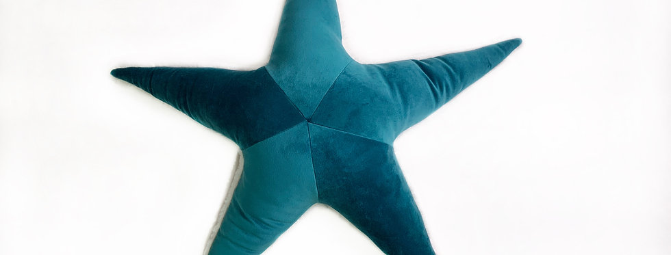 Blue  Starfish Pillow - Handmade Sea Star Plush