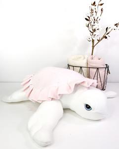 Pink Sea Turtle Plushie - Handmade Sea Stuffed Animal