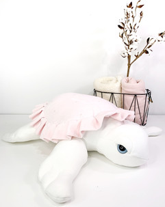 Pink Sea Turtle Plushie - Handmade Sea Stuffed Animal