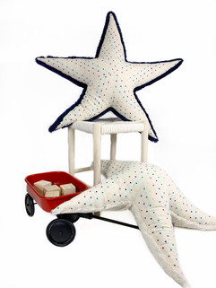 Polka Starfish Plushie - Baby Pillow
