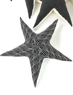 Black Sea Star Pillow - Texture Starfish Plush