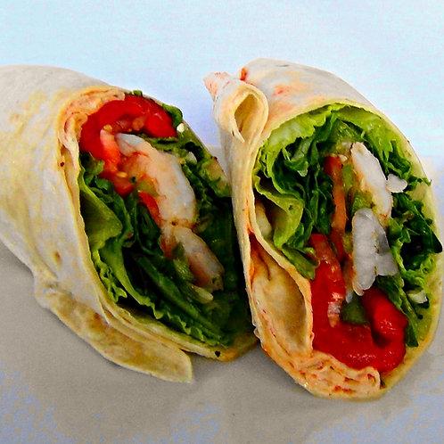 Sauteed Shrimp Wrap