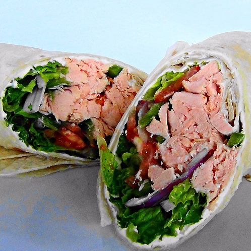 Salmon Salad Wrap