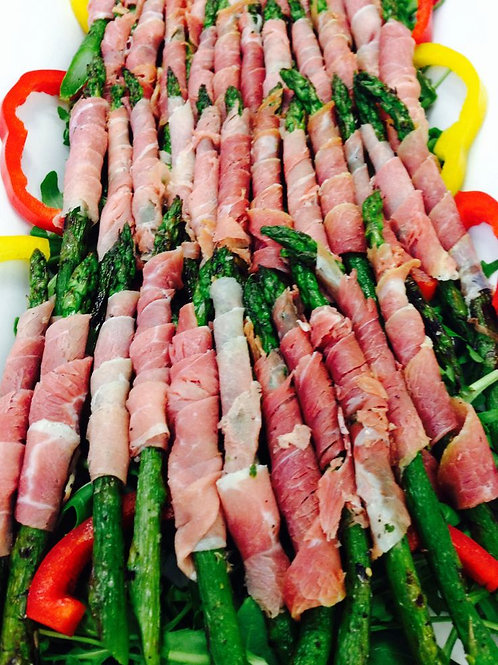 Prosciutto-Wrapped Asparagus Tips  (per dozen)