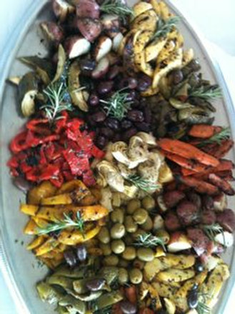 Mediterranean Roasted Vegetables (per person)