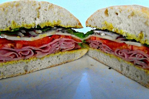 Brown Sugar Baked Ham Sandwich