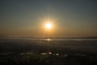 Západ slunce na Mandalay Hill