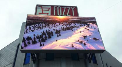 LED screen Outdoor P10 on the facade of the shopping center Gorodok Gallery