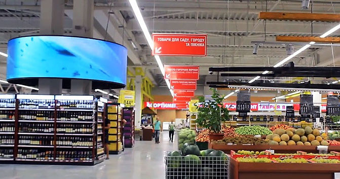 LED screens for supermarkets