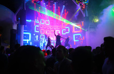 LED screen P5 on the stage of the night club IBIZA, Odessa