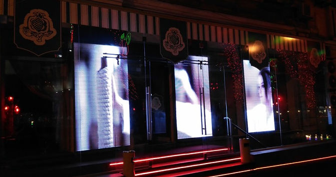 LED screens for restaurants and cafes