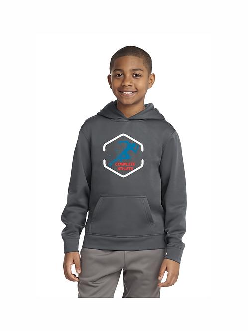 #YST244 Sport-Tek Youth Sport-Wick Pullover Hooded Sweatshirt