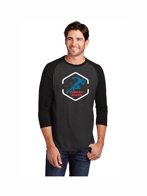 District Perfect Tri 3/4-Sleeve Raglan Shirt #DM136 CA