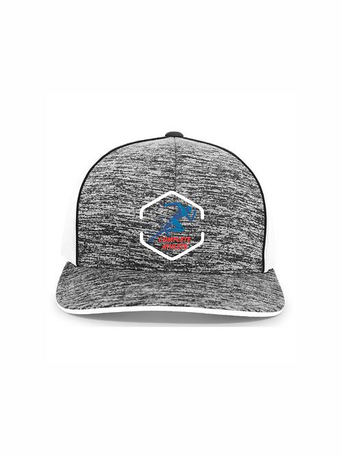 Pacific Headwear Heathered Snapback Trucker Hat #106C CA