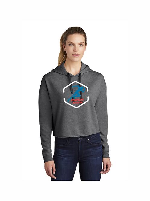 Sport-Tek Ladies PosiCharge Tri-Blend Wicking  Crop Pullover Hoodie #LST298 CA