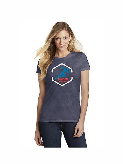 #DT155  District Women's Fitted Perfect Tri  Short Sleeve Tee