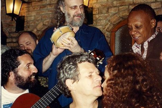 Aldir Blanc, Moacyr Luz, Luiz Carlos da Vila   1996   foto_ acervo Eduardo Goldenberg