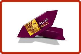 Krówkę reklamową z logiem Alior Banku