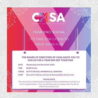 CXSA Year End event invite 2020