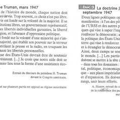 Les doctrines Jdanov et Truman