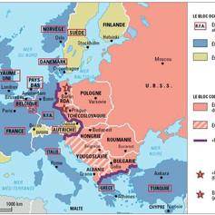 Carte de l'europe pendant la guerre froide