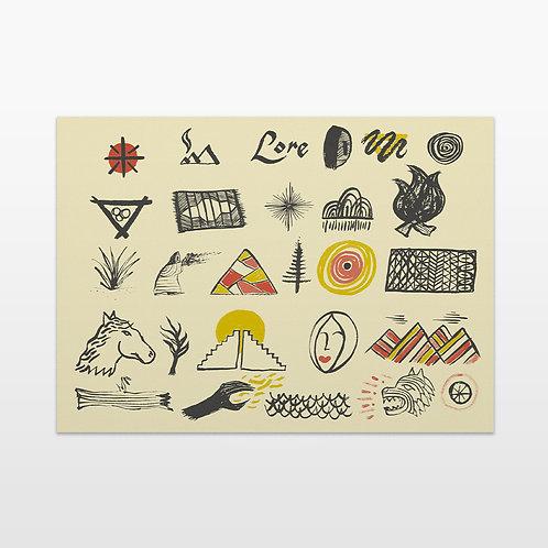 Lore Pattern Print