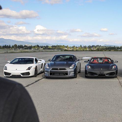 3 Vehicle Combo 2 Laps Each Car
