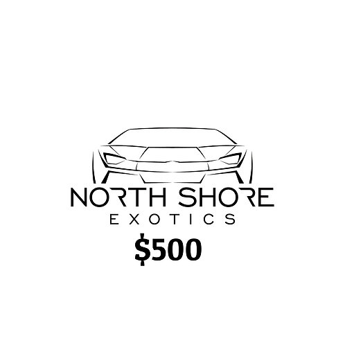 $500 North Shore Exotics Gift Certificate