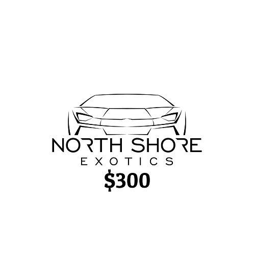 $300 North Shore Exotics Gift Certificate