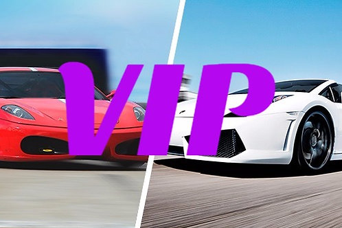 VIP Ferrari & Lambo Combo: 6 Laps including 6 Full Throttle Sprints